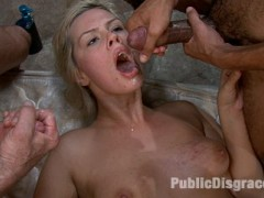 Cute blonde girl shackled and blindfolded in a dungeon + Party full of horny men and women = one super hot update!Tara Lynn Fox gets double penetrated, tied up and fucked in bondage, made to give blowjobs while hanging helpless upside down, is used as an ass and pussy licker, made to cum against her will, jizzed on, and then left to clean up the mess.video