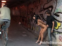 Lucy Belle is a beautiful Romanian girl with perfect natural tits, and a killer body. She gets tied up and made to cum in front of a group of horny construction workers. Then she gets fucked hard by Steve Holmes, and gets a load of cum on her face while blindfolded on the side of the road.video