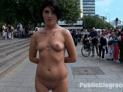 Bijou takes a trip to the dogging park in Europe and gets several loads of cum on her face and body.video