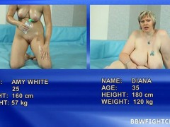 Amy vs Diana Chubby Amy wrestling with BBW blonde Dianavideo