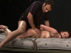 Kinky local model Sasha wanted to be tied up and fucked in the ass by a foreign Dominant with a big dick. She gets plenty of sadistic caning, rough anal fucking, and ball-gagged drooling in this intense BDSM scene.video
