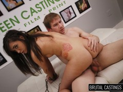 BDSM Casting Couch with Gia Paige, a hardworking young hottie, desperately wants to quit her job for high fashion modeling with Teen Castings! She\\\'ll do anything to get what she wants. She\\\'ll even endure BDSM, domination, rope bondage, deepthroat bj, fingering, squirting, spanking, slapping and deep penetration rough sex.video