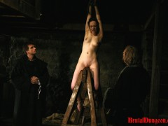 Brunette Mathilda Imprisoned for BDSM Gang Bangvideo