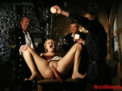 Magda is a flirty blonde bartender who also offers sexual favors for money. She is doing witchcraft to make all men willing. She\\\'s exposed, arrested and punished in the bar by disgruntled men. She must endure imprisonment, BDSM fun, gang bang, food play with sausages, spanking, slapping, fingering, breast, nipple and pussy torment, rough sex and deep double penetration. She actually likes it! Let\\\'s see if she likes the dungeon.video