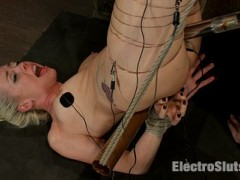 Episode 2: Lorelei Lee is someone you can always count on for an amazing performance. It doesn't matter what the fetish is, she's ready, willing and able.She finds herself with her feet in the air and her legs wrapped with copper wire. With Lorelei helpless, I take advantage of her and sit on her face, making her eat out my pussy until I'm satisfied.Though she does a good a job, I'm not done with Lorelei yet. I take a perverse joy in lighting up the wire with electricity! But her ordeal with electricity isn't over, and I pump her ass with an electric butt plug while fucking her pussy with a metal dick on a stick, making her cum over and over again at my whim.video