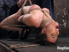 Casey is seasoned vet when it comes to BDSM. She does this in her personal life and it makes for a better than average shoot because of it. She is tough as nails and we put her in some of the most grueling bondage on the planet. She suffers through grueling predicaments, a single point waist suspension, brutal crotch rope, and non stop brutality with evil tormenting punishment.video