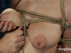 "Live Show Mondays brings you part 1 of 4 of the January live show that featured 19 yr old Haley Cummings and sexy co-top Isis Love. Bondage tutorial series.We decided to turn the live show into a full bondage tutorial event.  We have 19 year Haley Cummings and her massive natural ""FF"" breasts to help us demonstrate and show you how to perform some basic and advanced rope techniques.  Step by step video instruction that is sure to improve your skills and make your partner happy that you ""took the class"".Today we demonstrate a Japaneses box tie, an effective tie to hold your submissive in for a long time without putting stress on her arms and shoulders.  We will show you how to effectively bind and wrap breasts.  We will show you the advance hair tie, and how to finish off a great tie with a tight effective crotch rope.  Do not miss one part of this great series in our 'How to Tie at Home' bondage tutorial series!video"