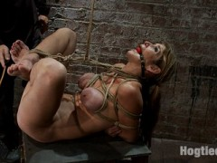 Welcome back Felony to Hogtied, this smoking hot MILF is as hot a women gets.  You have to love big titted, flexible, tough moms.We bind Felony in a traditional Japanese torture position, then take that tie a few steps ahead.  We bind her neck to her ankles and this puts her in the perfect fucking position.  Just a tiny ball of helplessness with her pussy and ass jutting out just begging for attention. We abuse Felony a bit and then give her a good fucking.  Both of her holes are violated and she's gagged helpless. Felony can't do a thing as the thick cock pounds in and out of her pussy and ass.   Nothing is as sexy in life than someone's mom bound, gagged, and coming from a brutal ass fucking.  Nothing.video