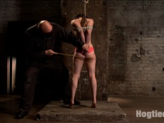 Casey is put through her paces by the relentless Sgt. Major. Casey endures tight ropes, humiliating positions, strappado, ball gags anal hooks, pussy penetration, clit vibe and overwhelming orgasms.video