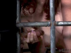 Elise Graves In Lockdown Elise Graves is the star of our show but for just a little bit she is going to need to share the limelight with the 3 hot sluts in her cage.video