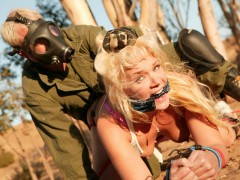 MILF whore gets degraded Busty blonde and dead fucking gorgeous, Heidi Mayne just got even fucking hotter. Tied and chained to a tree, Heidi's amazing round ass got slammed so fucking hard will getting her tits squeezed extremely hard! She was so into that cock ramming her she almost forgot where she was...video