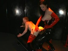 SOS features three highly sexual & fetish scenarios that include bondage, discipline, straight jacket, breath play, pussy spreader, oral sex, ejaculating rubber cocks and lots of strap-on action with willing submissive sluts.video