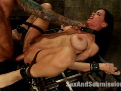 Brandy Aniston gets rough anal sex and bondage from Barry Scott in the sexy update!video