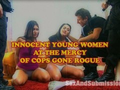 A Member's Favorite Update from the Archives!  Corruption in the sinful city of San Francisco has never looked so sexy.  The bad boys of law raid the house of two stoner chicks Charley Chase and Jade Indica looking for drugs.  Not finding exactly what they were looking for, the cops frame the girls and use scare tactics to have their way with them.  These horny babes fuck and suck their way out of the slammer with three cops in complete control.  After tying them up and fucking all of their holes, they are thrown in the trunk of a cop car and brought to a secluded location.  More bondage, humiliation and hardcore fucking transform these once innocent girls into willing sex slaves.video