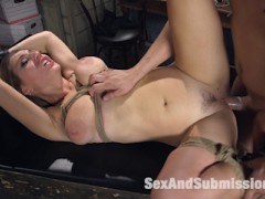 Mila Brite lives out her fantasies of be taken by a stranger in a dark alley and held captive as a sex slave.video