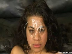 Facial Abuse Ayana I never had Polynesian pussy before, but now highly recommend it. Ayana got her Tongan tonsils knocked around. This was her first real hardcore film, and she was dealt some firm hands. We got some native grunts out of her, especially when Bootleg decided to throw a dildo up her ass. While Red was pounding her pussy, it was a fair exchange the innocence of youth for the cold hard truth of our couch. She walks away weary, but wiser.video